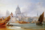 A View of Saint Pauls From The Thames