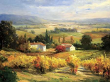 Hazy Tuscan Farm