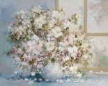 White flowers in vase