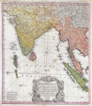 Map of India, 1748