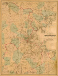 Map of Boston, 1860