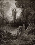 Adam and Eve - The Expulsion From The Garden - from Miltons Paradise Lost