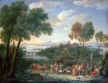 Italian Landscape With Sacrifice