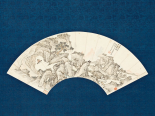 Landscape with Scholar Playing a Lute (Qin)