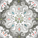 Jewel Medallion Gray I