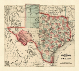Schonbergs map of Texas, 1866