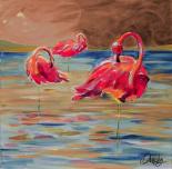 Trio Flamingos