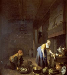 A Kitchen With a Kitchen Maid