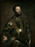 Portrait of Alfonso dAvalos, Marchese del Vasto, in Armor with a Page