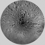 Unmarked Map of the Moon, North Pole