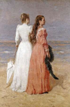 Elegant Women on a Beach