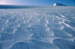 Wind waves on snow, Garden of Eden, Southern Alps, New Zealand