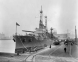 Battleship Texas in the Shipyard, ca. 1911