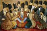 A Young Qajar Prince and His Entourage
