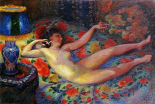 Nude With a Blue Lamp