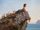 La fanciulla sulla roccia a Sorrento