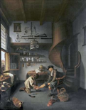A Barber Surgeon Tending a Peasants Foot