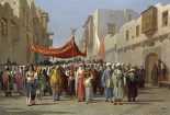 An Arab Wedding Procession
