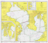 Nautical Chart - Tampa Bay - Northern Part ca. 1975