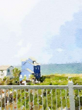 Watercolor Coastal Cottage