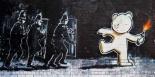 Stokes Croft Road, Bristol (graffiti attributed to Banksy)