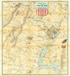 Army Map of The Seat of War In Virginia, 1862
