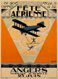 Fete Aerienne Angers - Vintage Aged Paper Style