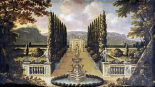 An Imaginary View of The Gardens of a Mansion