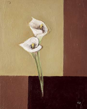 Calla lilly on brown