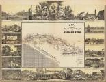 Mapa Historico Pintoresca Moderno de al Isla De Cuba, 1853