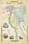 Vintage Map of Egypt