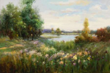 Spring Flowers and Vista