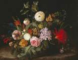 A Basket With Flowers