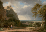 Classical Landscape with Figures and Sculpture