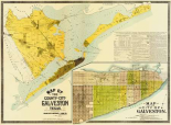 Map of the county and city of Galveston, Texas, 1891