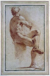 A Male Nude Seated With His Back Turned