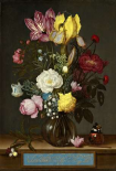 Bouquet of Flowers in a Glass Vase, 1621