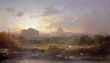 View of Rome at Sunset