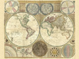 Double hemisphere map of the world 1794