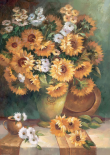 Sunflowers in Vase I