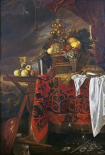 A Basket of Mixed Fruit With Gilt Cup