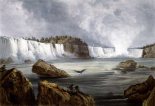 Niagara Falls Illustration in Wied-Neuwied