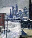 Blast Furnaces in Winter