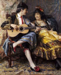 A Spanish Singer and His Lady