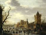 A View of Kasteel Batestein Vianen, In Winter