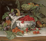 Plums, Grapes and Raspberries