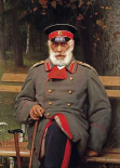 Portrait of a Russian General Seated On a Bench