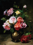 Painting of Roses in a Vase